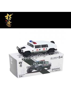 Xcartoys 1:64 Diecast Model Car - No84 Warrior Armed Police Off-Road Vehicle (Explosion-proof Screen Version)