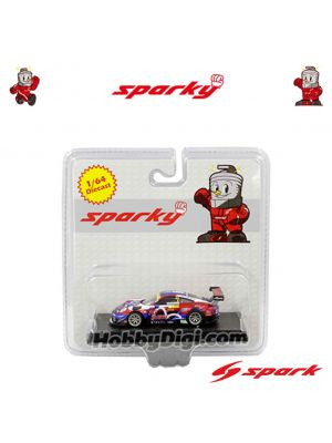 Spark Model Sparky 1:64 Diecast Model Car - Porsche 911 GT3 R No.911 Craft Bamboo Racing FIA GT World Cup Macau GP 2017 Laurens Vanthoor