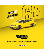 Tarmac Works GLOBAL64 1:64 合金模型車 - Mercedes- Benz C 63 AMG Coupé Black Series Yellow Metallic