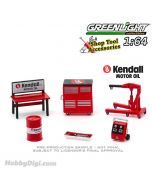 Greenlight 1:64 合金車配件 - Auto Body Shop - Shop Tool Accessories Series 3 - Kendall Motor Oil Solid Pack