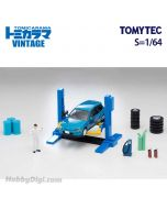 TOMYTEC Tomicarama Vintage 1:64 場景連車 - 06a 汽車升降機 連 Honda Civic SiR・II