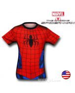Spiderman Nylon Costume Fitness T-Shirt