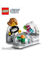 LEGO Loose Decoration and Minifigure City: Growing pod with plant and Botanist