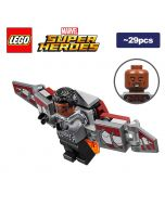 LEGO 散裝人仔 Marvel: Falcon with Wings and a Detachable Redwing Drone Element