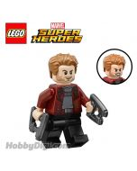 LEGO Loose Minifigure Marvel: Star-Lord with 2 Laser Guns