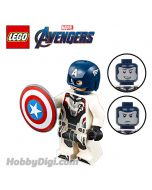 LEGO 散裝人仔 Marvel: Captain America with Helmet and Avengers Team Suit