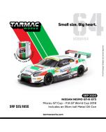 Tarmac Works HOBBY64 1:64 合金模型車 - Nisaan Nismo GT-R GT3 - Macau GT Cup - FIA GT World Cup 2018 (includes an 18cm tall Metal Oid Can)