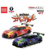 POP Race x TSM MINI GT 1:64 限量版合金車 - EVA RT Test Type-01 X Works GT-R #33 SUPER GT GT300 2019 & Nissan GT-R NISMO GT3 X Works/ EVA RT Test Type-02