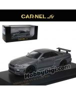 CarNel models 1:64 合金車 - NISMO R34 GT-R Z-tune Gray Metallic
