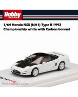 Hobby JAPAN 合金車 - 1/64 Honda NSX (NA1) Type R 1992 Championship white with Carbon bonnet