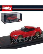 Hobby JAPAN 合金車 - 1/64 Toyota GR Supra (A90) RZ Customized Version. Prominence Red