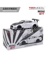 TSM 1:64 Mini GT 合金車 - LB★WORKS Nissan GT-R R35 Type 2 Rear Wing ver 3 White (右手軚)