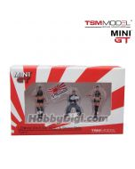 TSM 1:64 Mini GT 配件人偶 - LB★Works Mr. Kato & Show Girls Type A