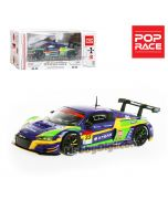 POPRACE 1:64 限量版合金車 - Audi R8 LMS Super GT 2020 #33 EVA RT Test Unit-01 X Works R8