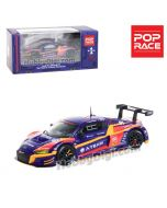 POPRACE 1:64 限量版合金車 - Audi R8 LMS Super GT 2020 #33 EVA RT Test Unit-01 X Works R8 Kakusei