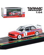 Tarmac Works HOBBY64 1:64 Diecast Model Car - BMW M3 E30   Spa 24hours Race 1992 Winner Soper / Martin / Danner (Decal included)