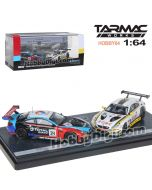 Tarmac Works HOBBY64 Hong Kong Exclusive Diecast Model Car Box Set - BMW M6 GT3 - 24 Hours of Spa 2018 Set of 2