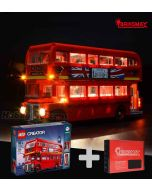 Briksmax 專用燈光組件 + LEGO Creator 10258 : London Bus
