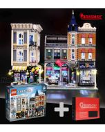 Briksmax 專用燈光組件 + LEGO Creator 10255 : The Assembly Square