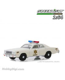 Greenlight 1:64 合金車 - 1977 Plymouth Fury - Hazzard County Sheriff (Hobby Exclusive)