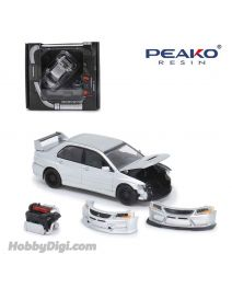 Peako Peako64 1:64 Diecast Model Car - 2005 Lancer Evolution IX, Sliver
