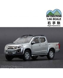 BM Creations Junior 1:64 合金模型車 - ISUZU 2016 D-MAX Silver (右手軚)