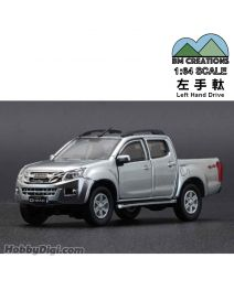 BM Creations Junior 1:64 合金模型車 - ISUZU 2016 D-MAX Silver (左手軚)