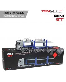 TSM 1:64 Mini GT 合金車 - Mercedes-Benz Actros with Car Carrier Trailer (右手軚)