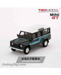 TSM 1:64 Mini GT 合金車 - Land Rover Defender 110 1985 County Station Wagon Grey (左手軚)