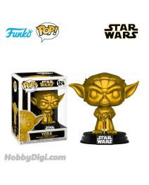 Funko Pop! Movies 系列 124 : 尤達 Yoda (Metallic Gold) 《星際大戰》