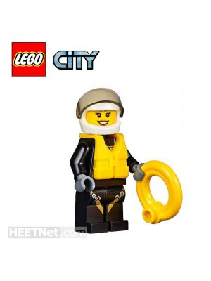 LEGO Loose Minifigure City: Firewoman with Life Preserver
