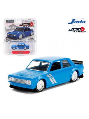 JADA JDM Tuners 1:64 Diecast Model Car - 1973 Datsun 510 Widebody Blue