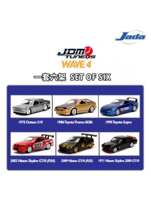 JADA JDM Tuners 1:64 Diecast Model Car - Wave 4 Set (6 Cars)