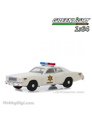 Greenlight 1:64 Diecast Model Car - 1977 Plymouth Fury - Hazzard County Sheriff (Hobby Exclusive)