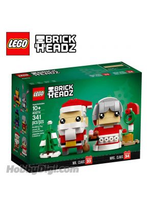 LEGO Brickheadz 40274: Mr. & Mrs. Claus