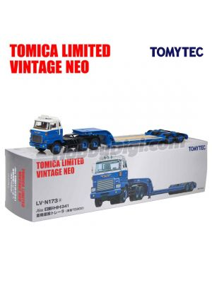 TOMYTEC Tomica Limited Vintage NEO 1:64 Diecast Model Car LV-N173a - HINO HH341 Heavy Equipment Transport Trailer TokyuTD302