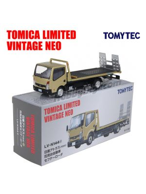 TOMYTEC Tomica Limited Vintage NEO 1:64 Diecast Model Car LV-N144c - Nissan Atlas Hanamidori Safety Loader Gold