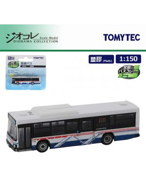 TOMYTEC Diorama Collection 1:150 Model Car - National Bus Collection JB066 Nagasaki Bus Isuzu Elga Non-step Bus