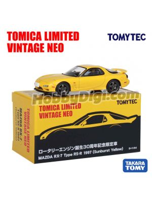 TOMYTEC Tomica Limited Vintage NEO Exclusive Diecast Model Car - TLV Mazda RX-7 Type RS-R 1997(Sunburst Yellow)