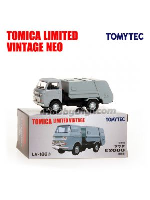 TOMYTEC Tomica Limited Vintage NEO Diecast Model Car - LV-186b Mazda E2000 cleaning car (Ash)