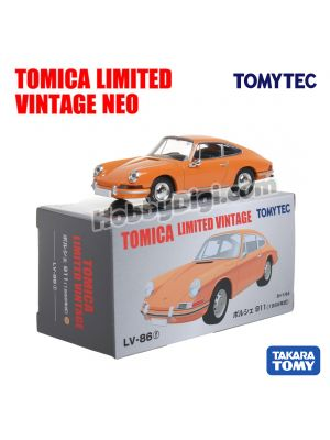 TOMYTEC Tomica Limited Vintage NEO Diecast Model Car - LV-86f Porsche 911 (Yellow)