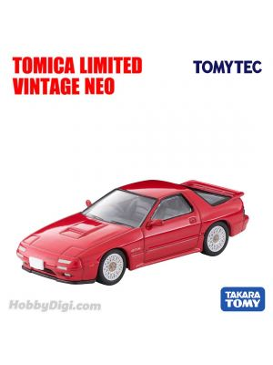 TOMYTEC Tomica Limited Vintage NEO Diecast Model Car - LV-N192d Mazda Savannah RX-7 GT-X 90 Years (Red)