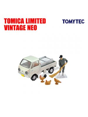 TOMYTEC Tomica Limited Vintage 合金車 - LV-198b Mazda Porter Cab Three-way Open (White) With Figure