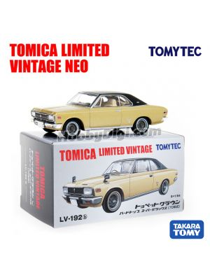TOMYTEC Tomica Limited Vintage NEO 合金車 - LV-192b Crown Hardtop Super Deluxe 70 Years (Gold/ Black)