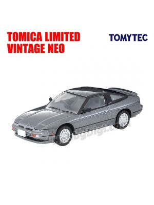 TOMYTEC Tomica Limited Vintage NEO Diecast Model Car - LV-N252a Nissan 180SX TYPE-II Special Selection Attaching Car Grey M 1989 model
