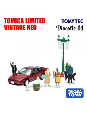 TOMYTEC Tomica Limited Vintage NEO Diocolle 64 Accessory - #Car Snap 08a Urban town scene