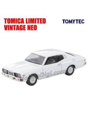 TOMYTEC Tomica Limited Vintage NEO Diecast Model Car - N257a Nissan Cedric 2 Door HT2000SGL-E (White) 78 Years