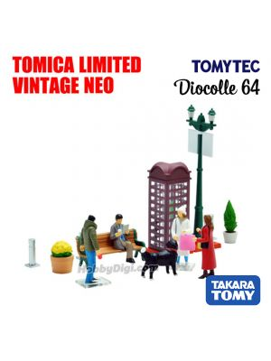 TOMYTEC Tomica Limited Vintage NEO Diocolle 64 Accessory -  #Car Snap 09a Holiday town scene