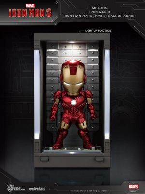 Beast Kingdom Marvel Mini Egg Attack Action MEA-015 - Iron Man 3 Iron Man Mark IV with Hall of Armor
