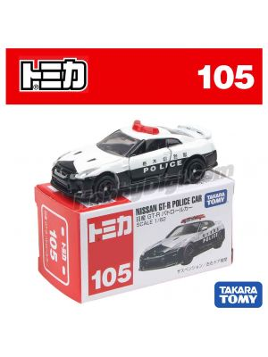 Tomica 合金車 No105 - Nissan GTR Police Car